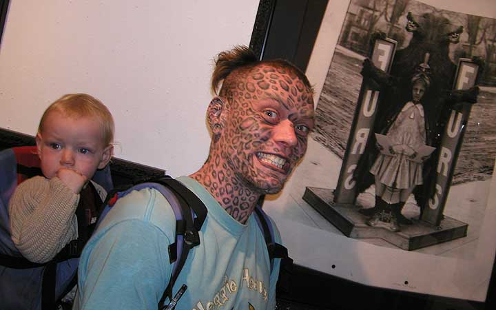 A fantastically mutated specimen, Larry da Leopard (of Telepathic Tattoo in